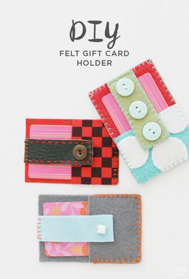 Teacher appreciation ideas: Felt gift card holders