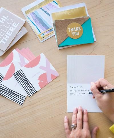 Thank You Card Sending | thinkmakeshareblog.com