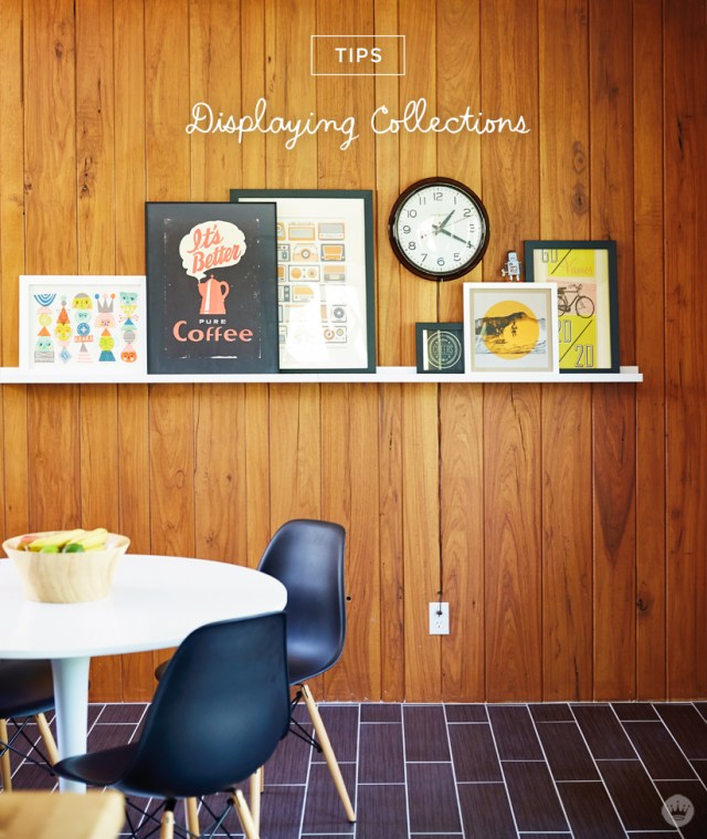 Tips on displaying your collections from a Hallmark art director | thinkmakeshareblog.com