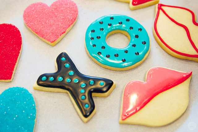 Valentine's Day Cookie Decorating workshop cookies by Hallmark creatives