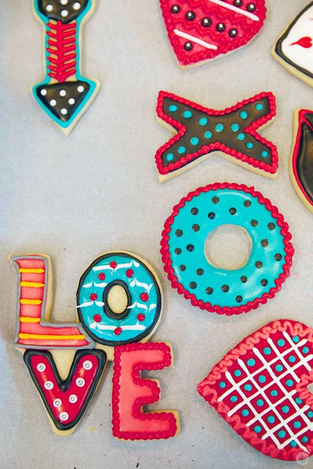 Valentine's Day Cookie Decorating workshop cookies