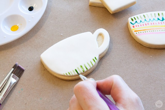 Watercolor Cookies | thinkmakeshareblog.com