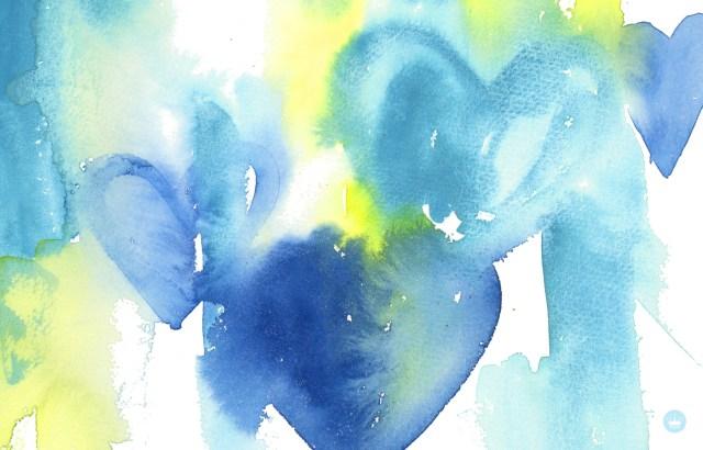 Watercolor Love | June desktop wallpaper | thinkmakeshareblog.com