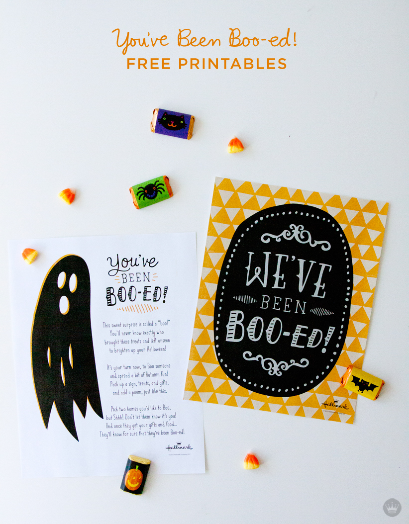 It's just a graphic of You've Been Booed Printable for craft