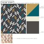 On-trend Color for a Modern Blanket | thinkmakeshareblog.com
