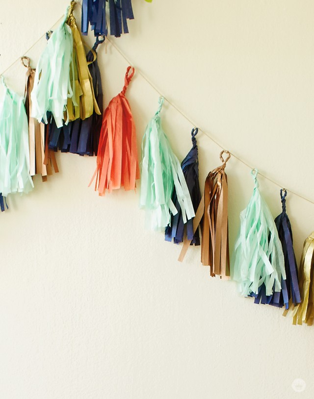 how to make a tassel garland | thinkmakeshareblog.com