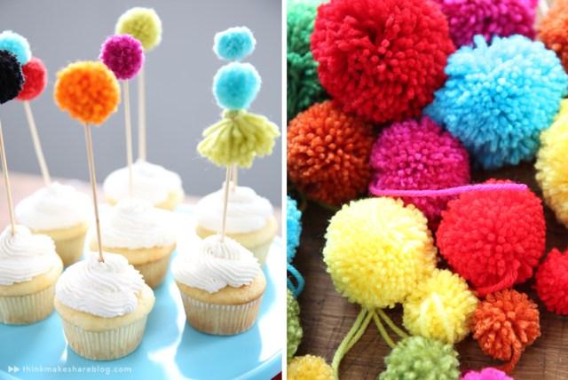 pom pom cupcakes by hallmark artists