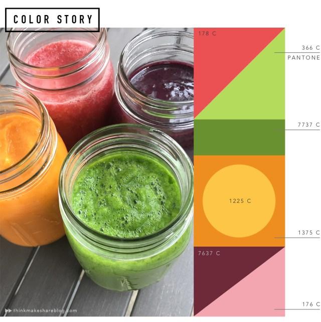 Summer Smoothie Color Story | thinkmakeshareblog.com
