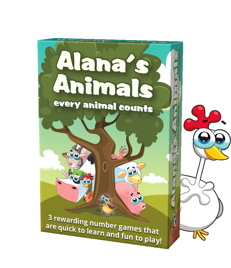 Alana's animals maths card game