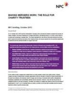 Making mergers work briefing paper