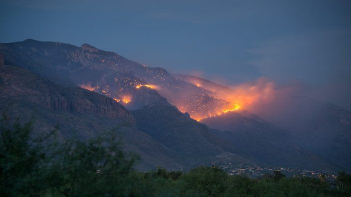 The Finger Rock fire in the Catalina Mountains