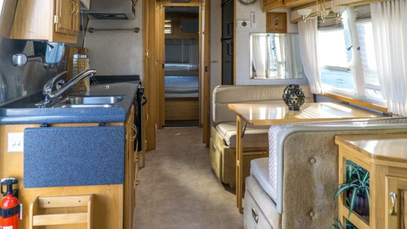 Airstream: Looking back towards the bedroom