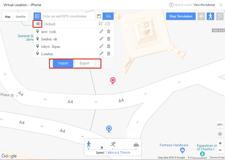 virtual location on iPhone10