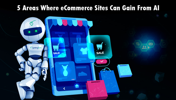 5 Areas where ecommerce sites can gain from AI