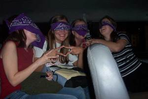 "Fall 2002: The other girls in my social club (aka ""sorority"") who were also 'kidnapped' with me..."