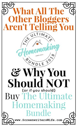 So you're seeing all these bloggers advertise this Homemaking Bundle thing. What is it? Why are they trying to get you to buy it? Why are they all writing such glowing reviews? If you're looking for the truth about the 2018 Ultimate Homemaking Bundle, good and bad, this is the post for you.