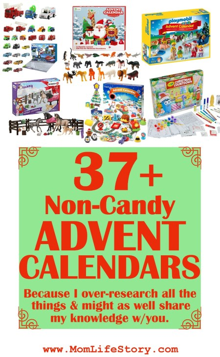 pin image for non-candy advent calendars
