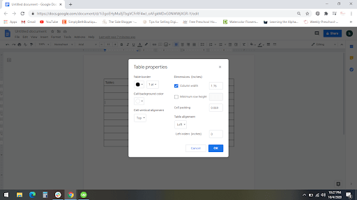 How To Add And Customize Tables in Google Docs