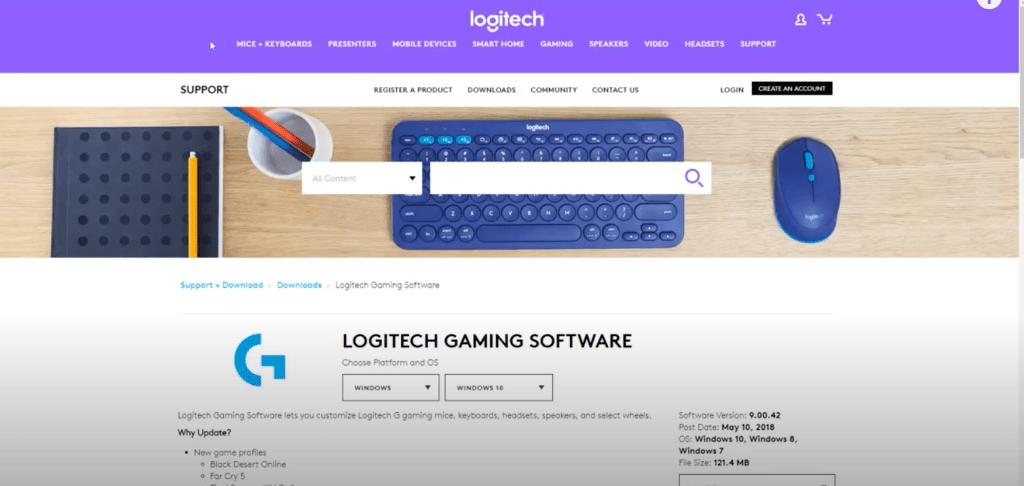adjust your Logitech mouse settings