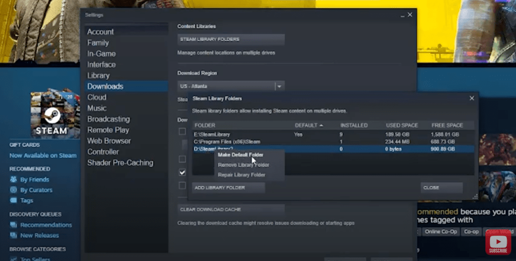How to Change the Steam Games Download Location