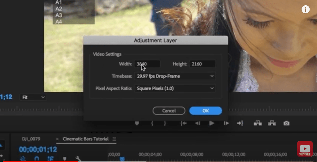 add widescreen bars to a video