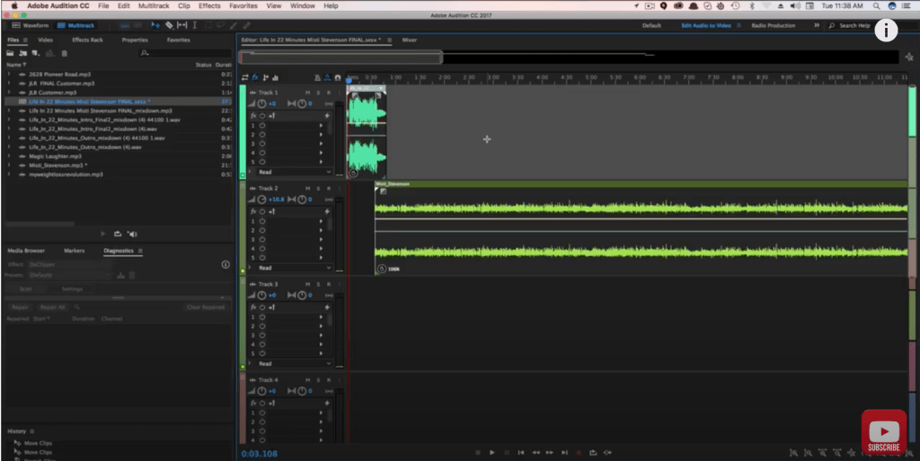 How to Slow Down and Speed Up Audio in Adobe