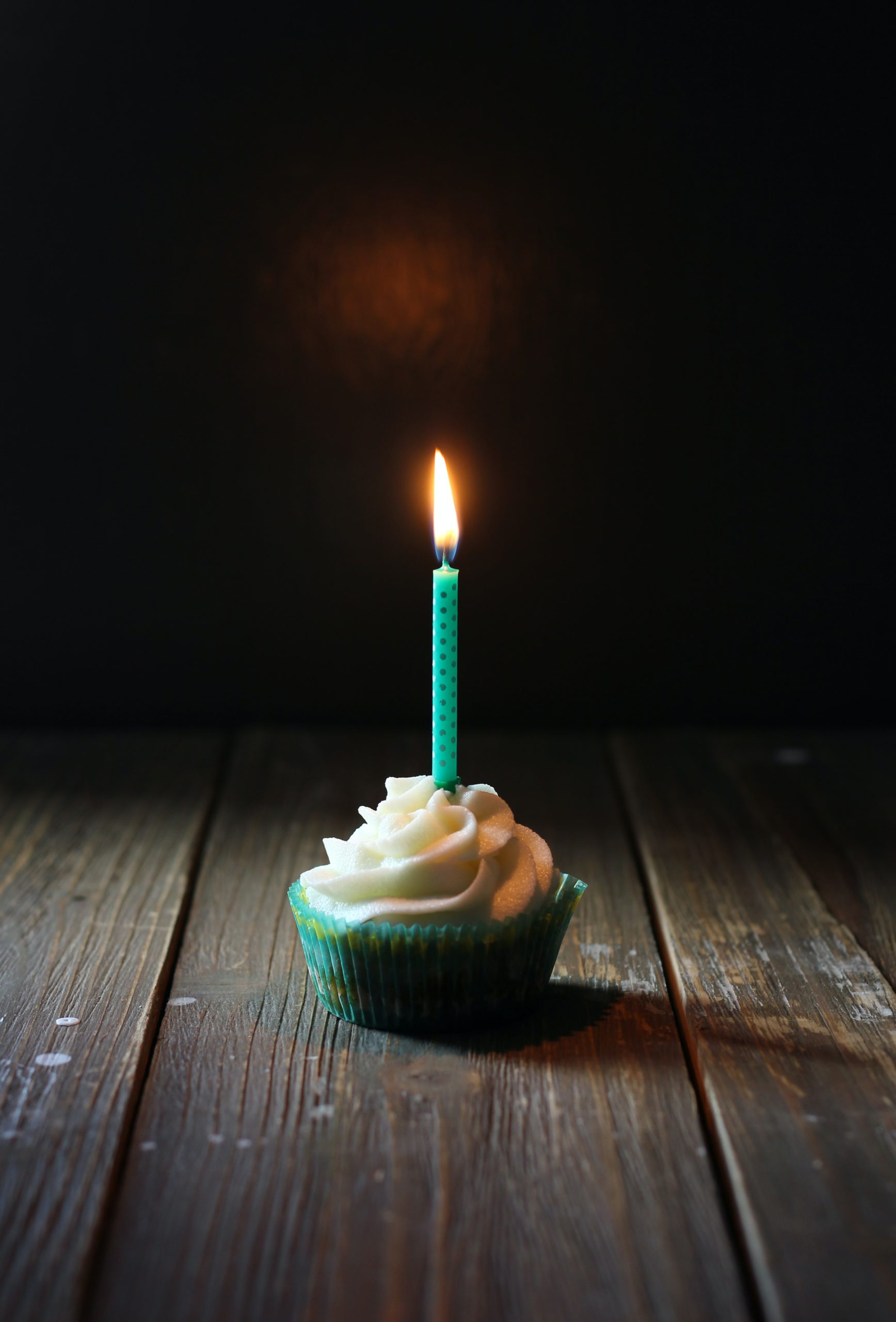 Cupcake with a candle
