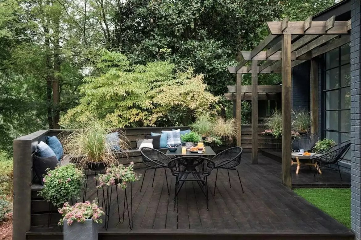 how to build a tiered wood deck think