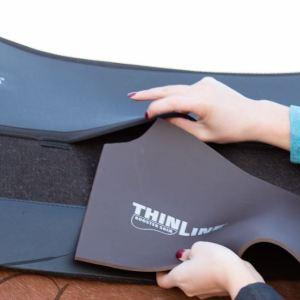 ThinLine Western Saddle Pad Black Felt Liner with fender shimmable