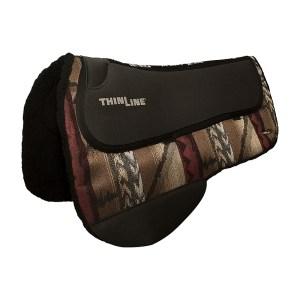 ThinLine Western Ranch Saddle Pad Birch Round Skirt