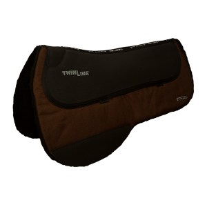 ThinLine Western Ranch Saddle Pad Brown Round Skirt