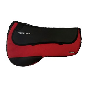 ThinLine Western Ranch Saddle Pad Red Round Skirt