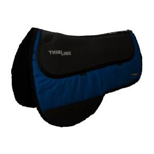 ThinLine Western Ranch Saddle Pad Royal Blue Round Skirt