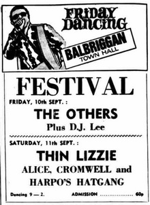Thin Lizzy tour 1971 Thin Lizzy Guide made by Peter Nielsen