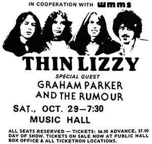 Thin Lizzy tour 1977 Thin Lizzy Guide made by Peter Nielsen