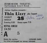 Thin Lizzy tour 1982 Thin Lizzy Guide made by Peter Nielsen