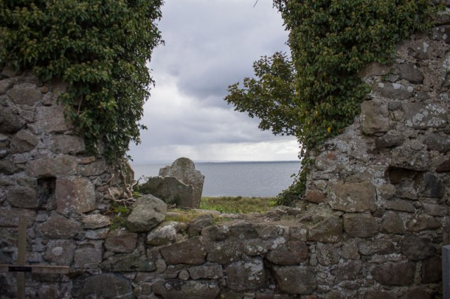 From the Ardboe Church ruins looking out to Lough Neagh - County Tyrone