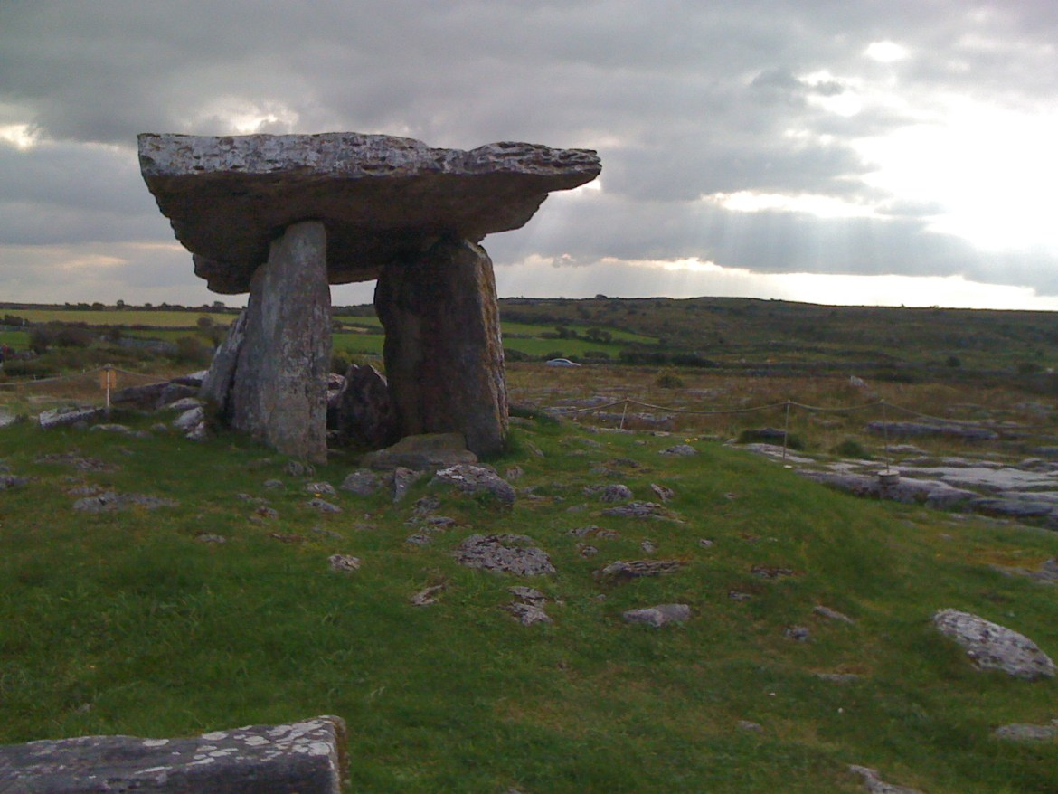 The Poulnabrone Dolmen in the Burren