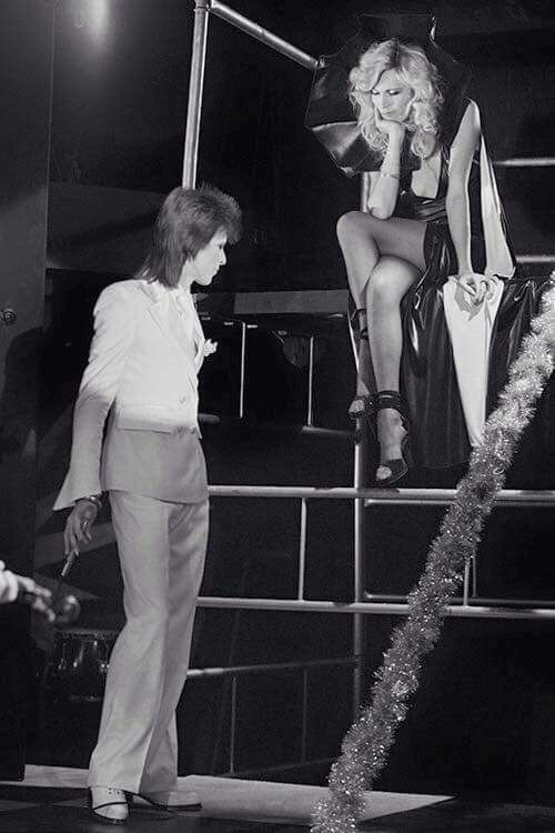 David Bowie and Amanda Lear on the 1980 Floor Show