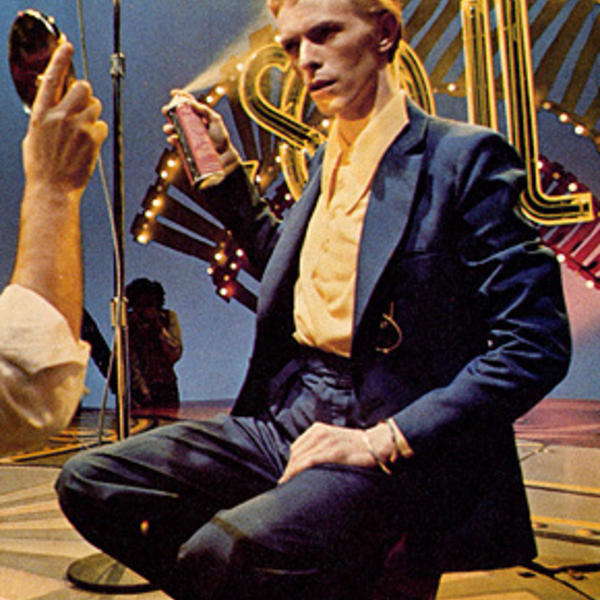 David Bowie in make-up before his 1975 Soul Train appearance