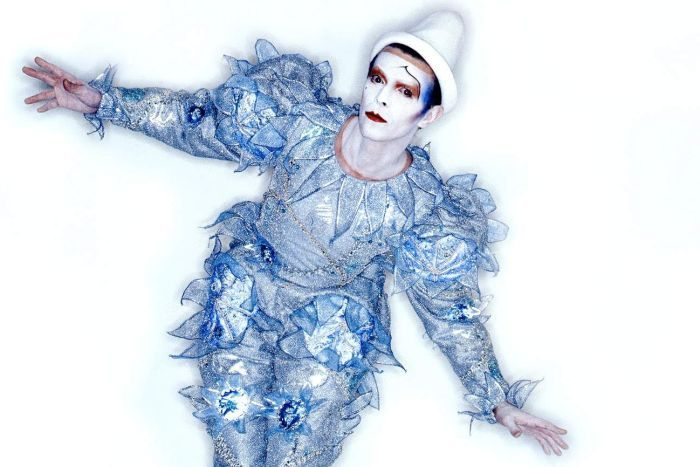 David Bowie in Pierrot Costume