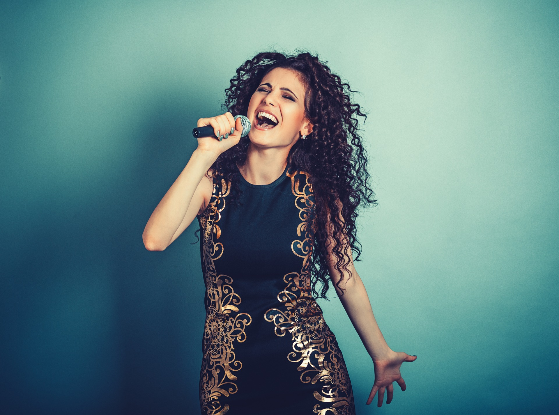 A singer uses her overexcitable voice