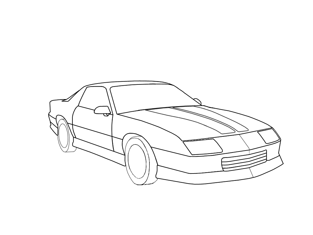 Camaro Line Art