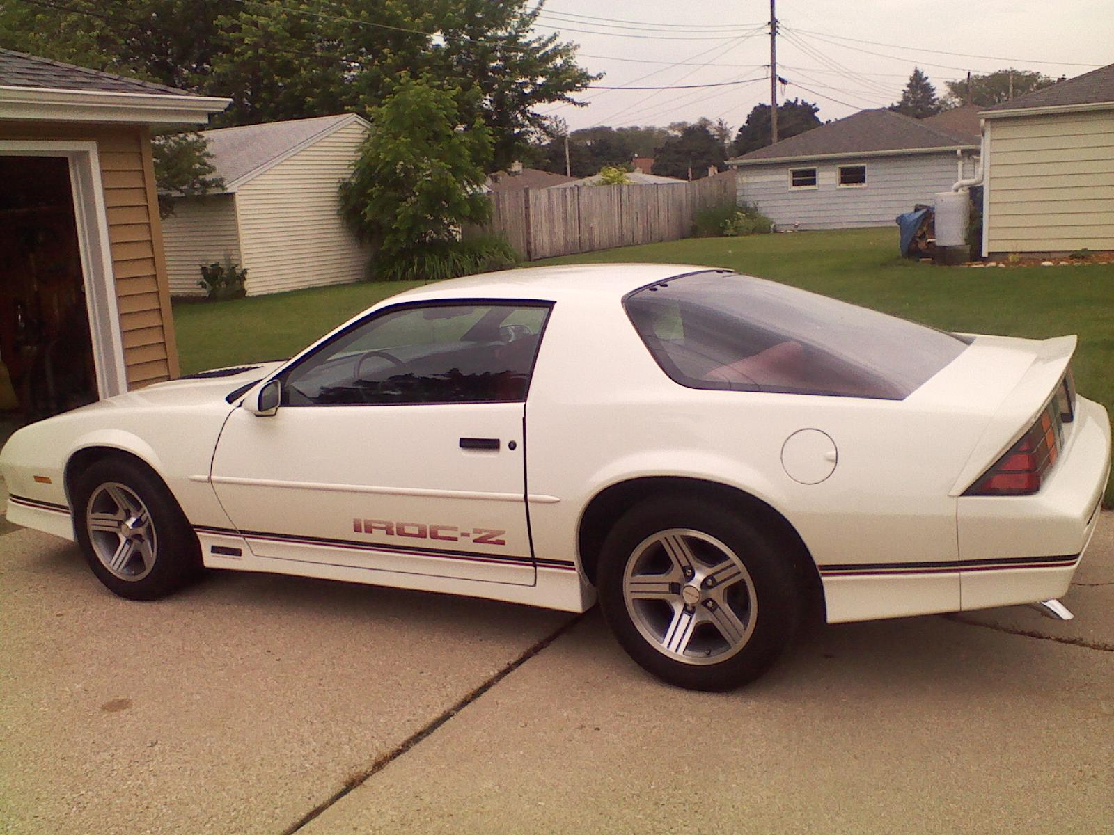 hight resolution of  1988 iroc z manual 5 speed for sale left side white iroc