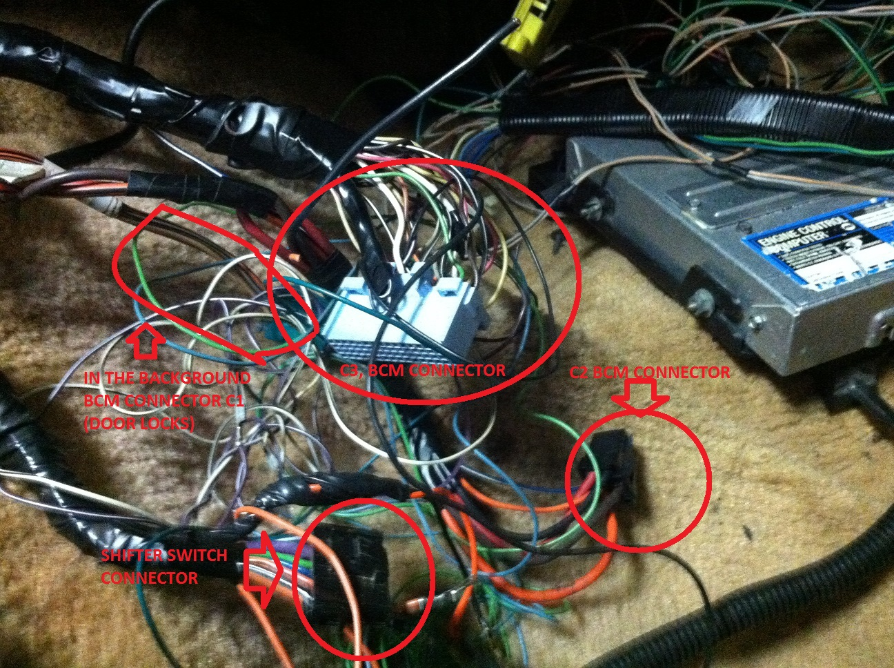 hight resolution of radio harness wiring mess third generation f body message boards radio harness wiring mess img 0852 jpg