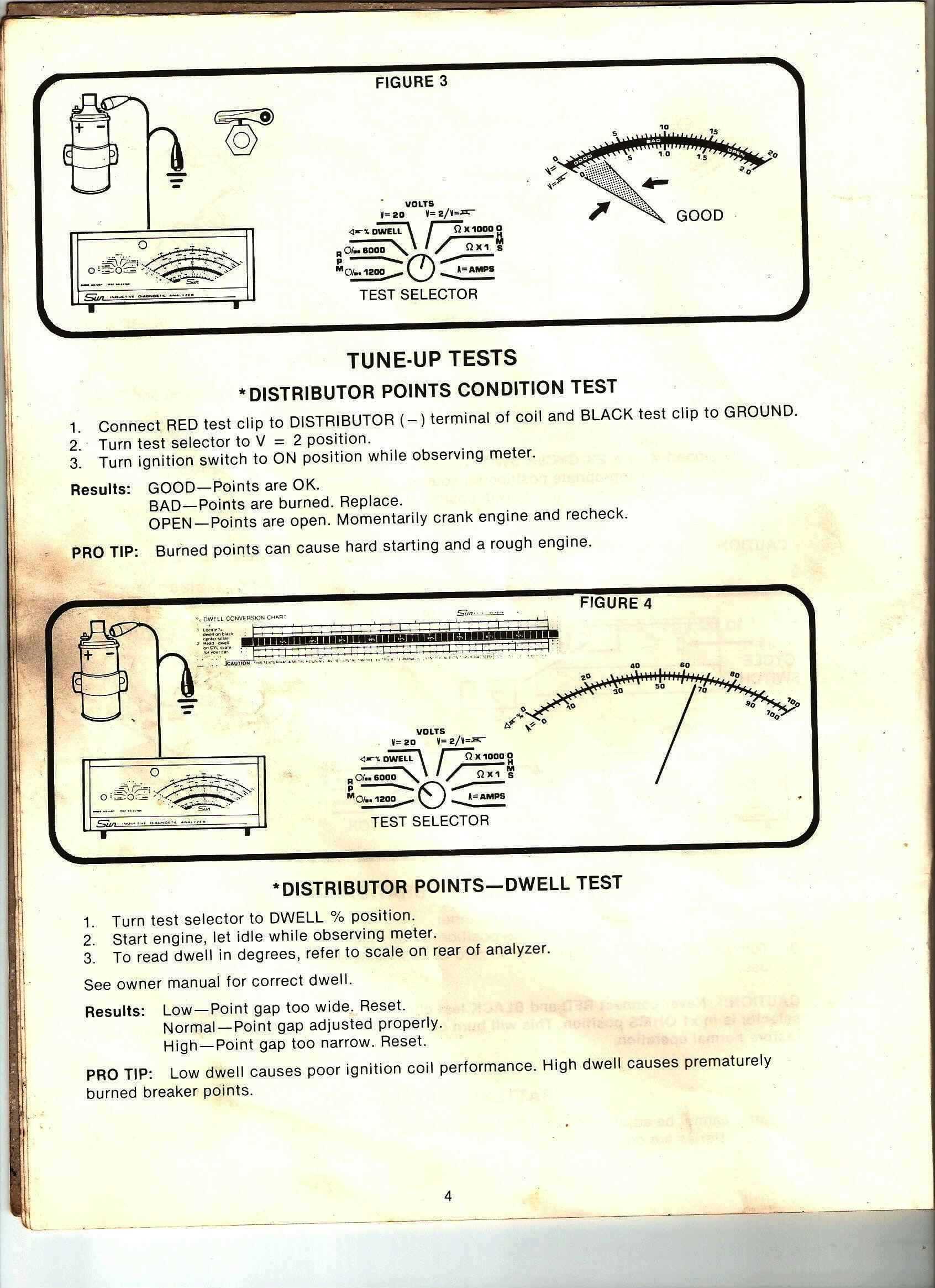 hight resolution of 1987 electronic quadrajet tuning sun machine dwell test