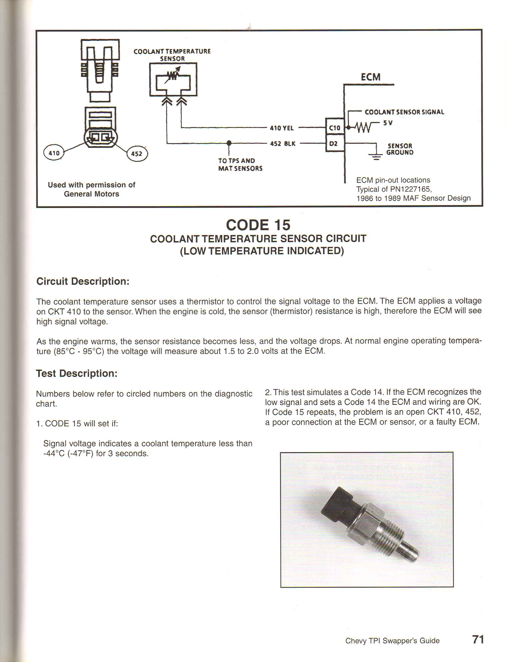 hight resolution of coolant temperature sender