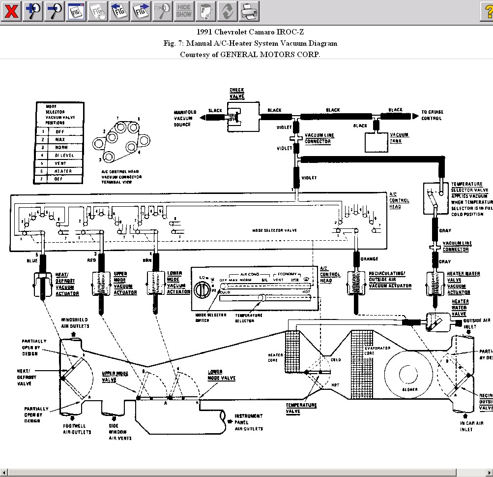 hight resolution of hvac vent vacuum line issues heater vacuum diagram jpg