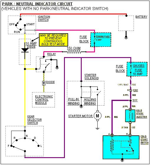 Dpdt Toggle Switch Wiring Diagram Park Neutral Indicator Switch Using Neutral Safety Switch