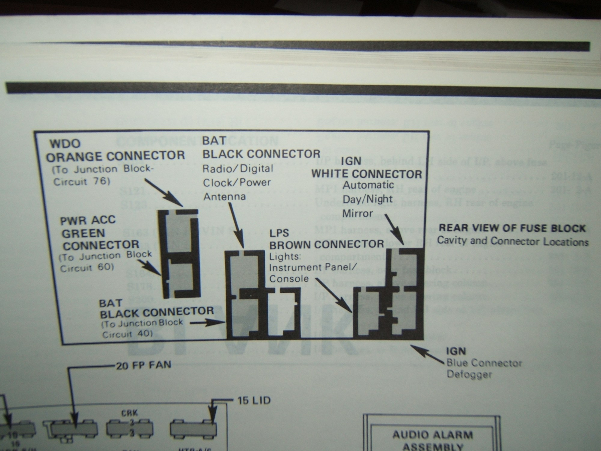 hight resolution of fuse box diagram for 1988 camaro iroc z third generation f body rh thirdgen org 1990 1986